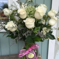 white-roses-with-pink-bow