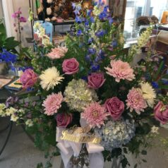 Blue hydrangeas lav rose pink cremons