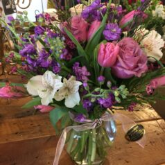 Vase of spring mix