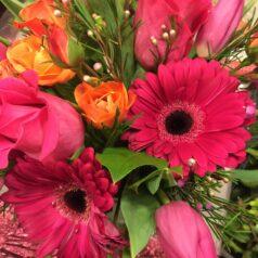 Orange and pink vase