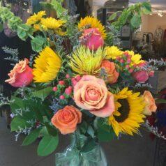 Fall Tall vase arrangement
