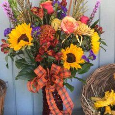 Mixed fall vase 101920